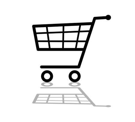 carretilla de mano: Carrito de compras Vectores