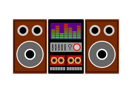 Radio cassette player Vector