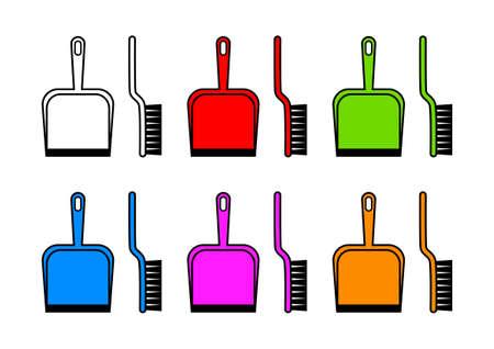 dustpan: Dustpan and brush Illustration