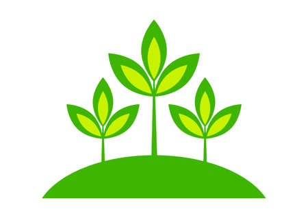 Plant icon on white background Stock Vector - 16246452