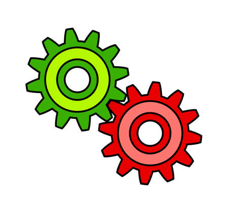 Colorful gears Vector