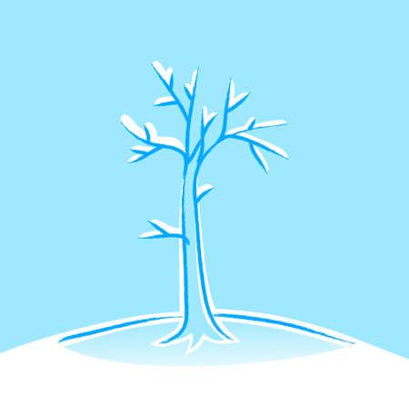 Winter tree Stock Vector - 16435352