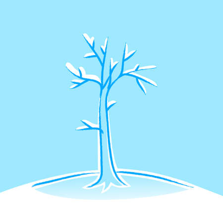Winter tree Stock Vector - 16435352