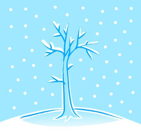 Winter tree Stock Vector - 16435353