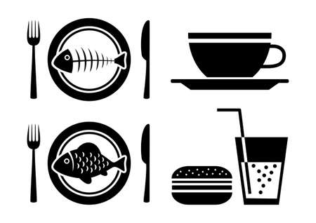 Food and drink icons Stock Vector - 16493397