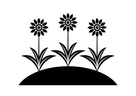 Black flower icon Stock Vector - 16666862