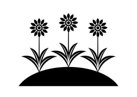 Black flower icon Stock Vector - 16666862