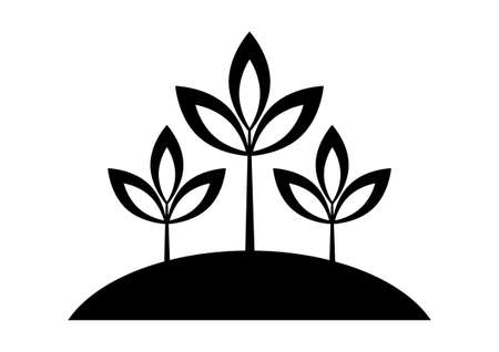 Black plant icon Stock Vector - 16666860