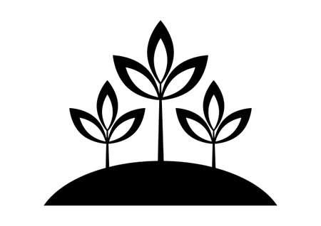 houseplant: Black plant icon