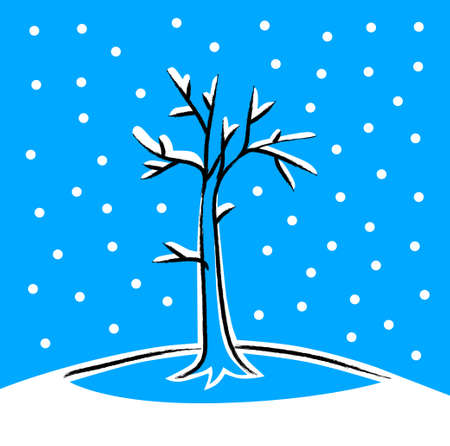 Winter tree Stock Vector - 16666853