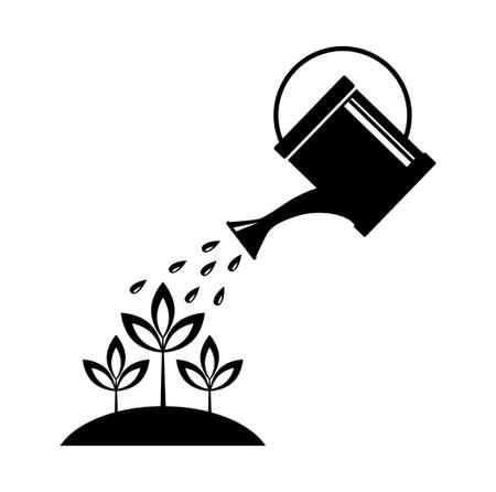 watering: Gieter Stock Illustratie