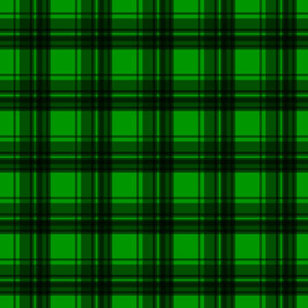 Green flannel background Vector