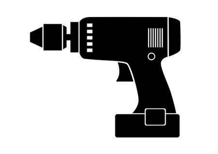 drilling machine: Drill icon Illustration