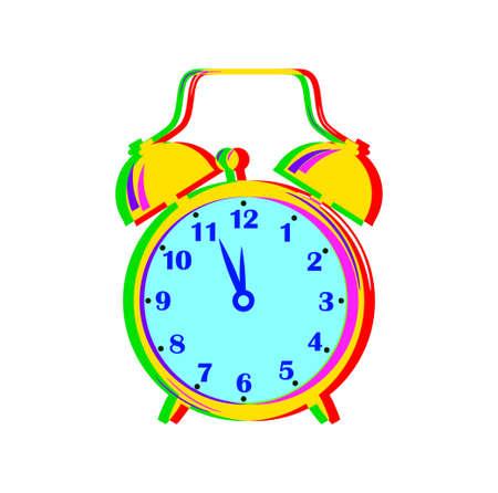 Despertador colorido en el fondo blanco Foto de archivo - 16875182
