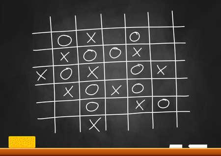 Drawing on blackboard Stock Vector - 16875184