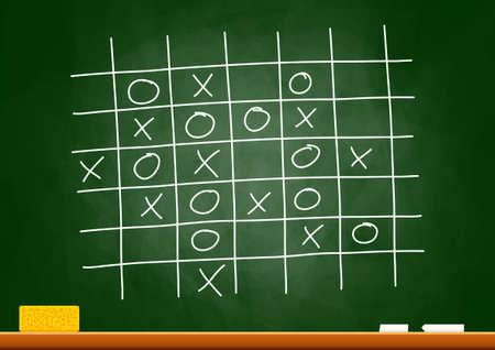 school strategy: Drawing on blackboard
