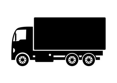 delivery truck: Truck icon Illustration