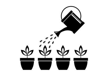 watering can: Gardening Illustration