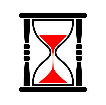 sands of time: Hourglass icon