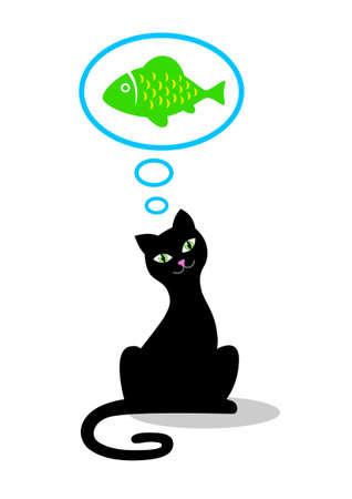 Black cat Stock Vector - 17319356