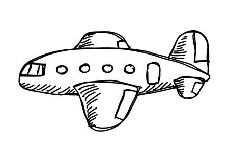 Drawing of plane   Illustration