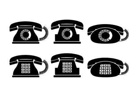 Telephone icons   Stock Vector - 17319361