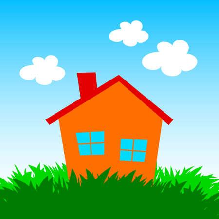 Orange house Stock Vector - 17358418
