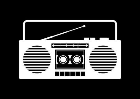 cassette tape: Radio cassette player