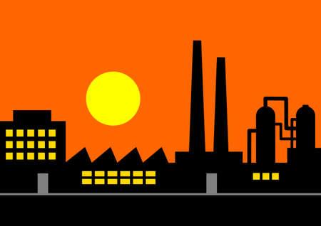 Factory Stock Vector - 17379420