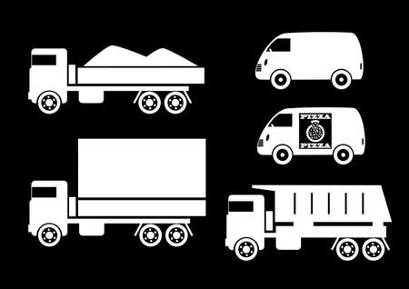 Truck icons Vettoriali