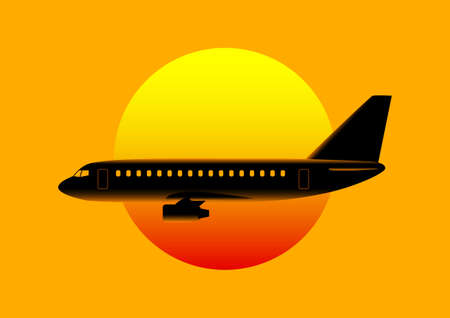 Aircraft silhouette Stock Vector - 17536799