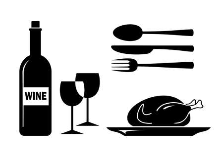 Food and drink icons Stock Vector - 17536816
