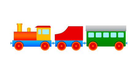 loco: Wooden train Illustration