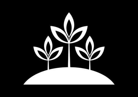 Black plant icon Stock Vector - 17536808