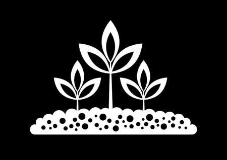 Black plant icon Stock Vector - 17536851