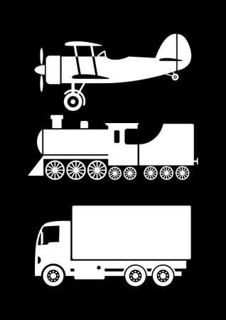Transportation icons Stock Vector - 17536847