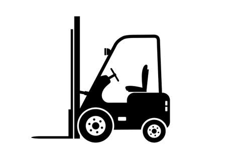 Lift truck icon Illustration