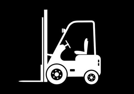 lift truck: Levante icono cami�n
