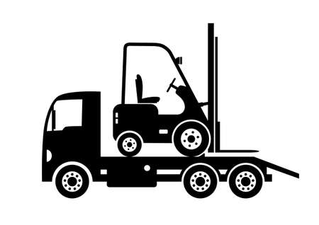 Tow truck and forklift Stock Vector - 18335467