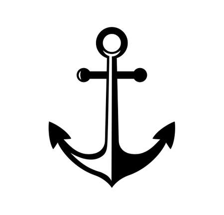 Anchor icon Stock Illustratie