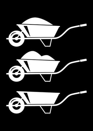 Wheelbarrow icons Illustration