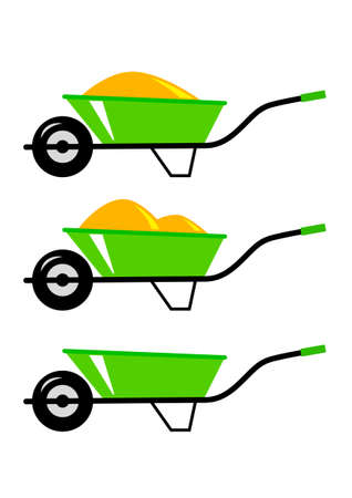 Wheelbarrow icons Stock Vector - 18596717