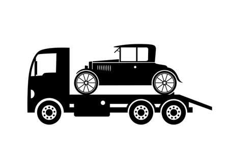 Tow truck Stock Vector - 18650558