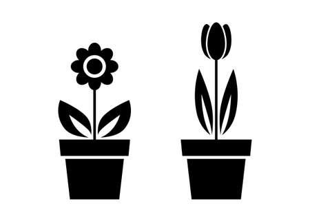 flower vase: Flower icons