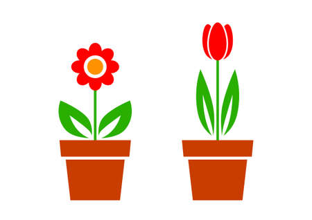 Flower icons Stock Vector - 18647016