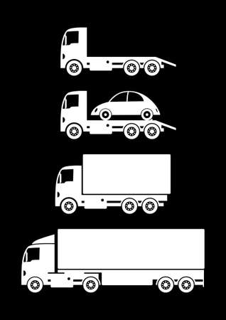 transporteur: Camion de collecte Illustration