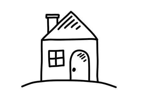 cartoon house: House sketch Illustration