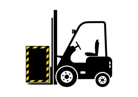Forklift truck icon Stock Vector - 18865360