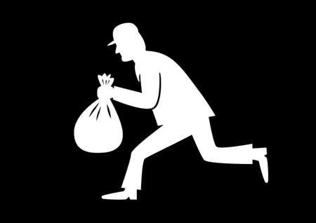 burglar: Ladro icona Vettoriali