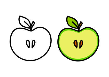Apple drawing Stock Vector - 18865364